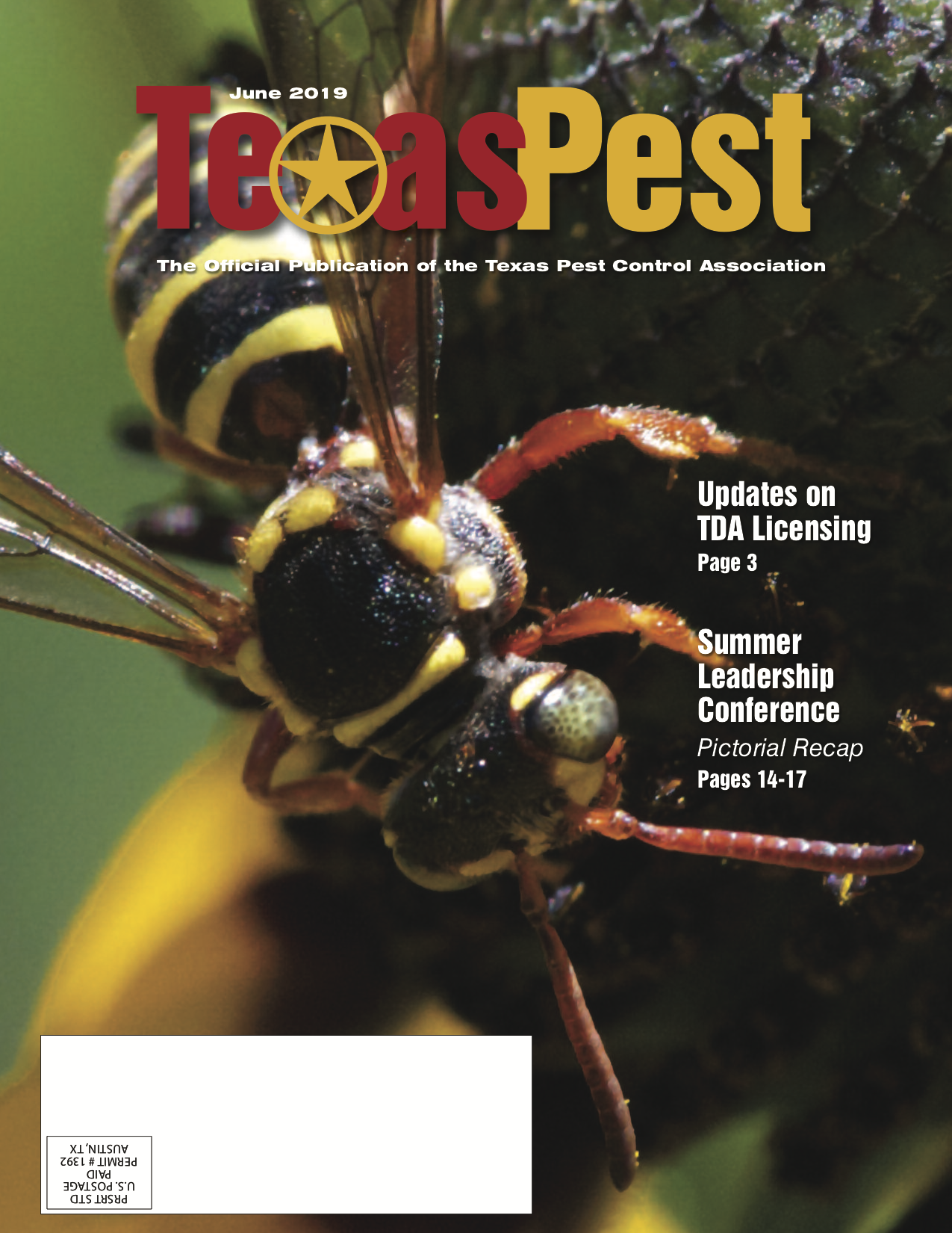 Texas Pest Magazine June Issue Cover