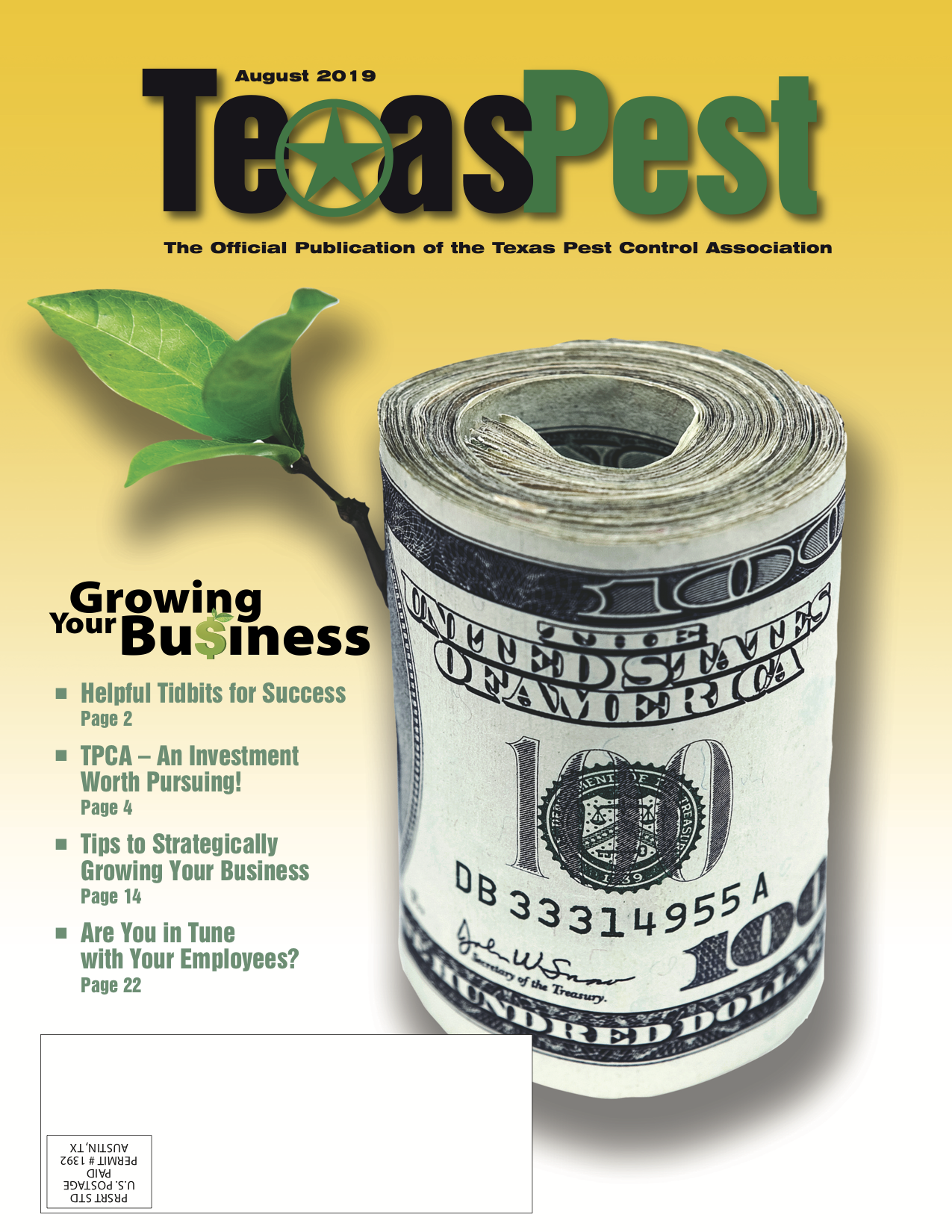 Texas Pest Magazine August Issue Cover